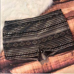 Gold Tribal Pattern Metallic Forever 21 Shorts